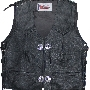 Motorcycle Leathervest in black 1843